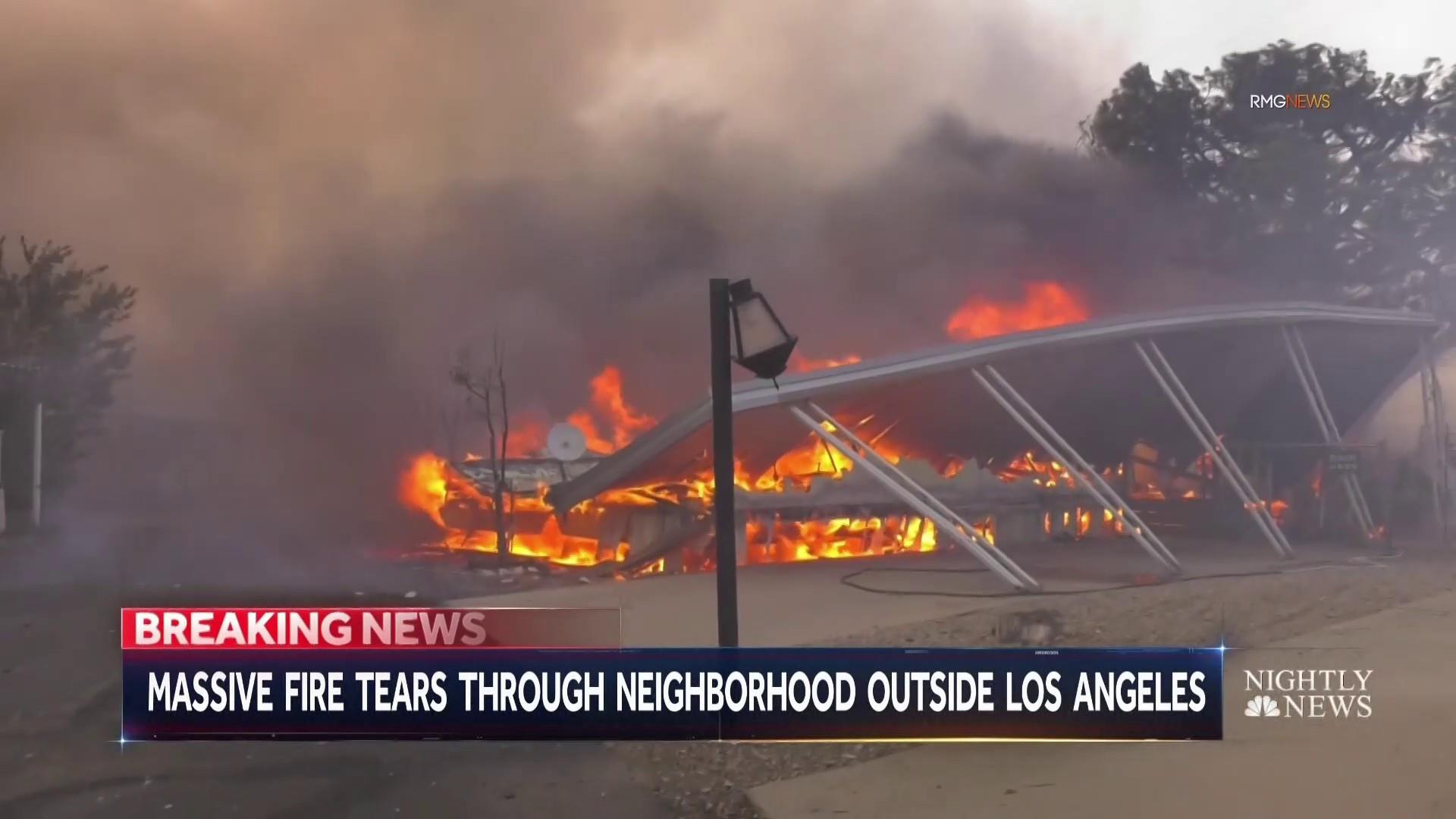 southern california erupts in wildfires while parts of the state have no  power