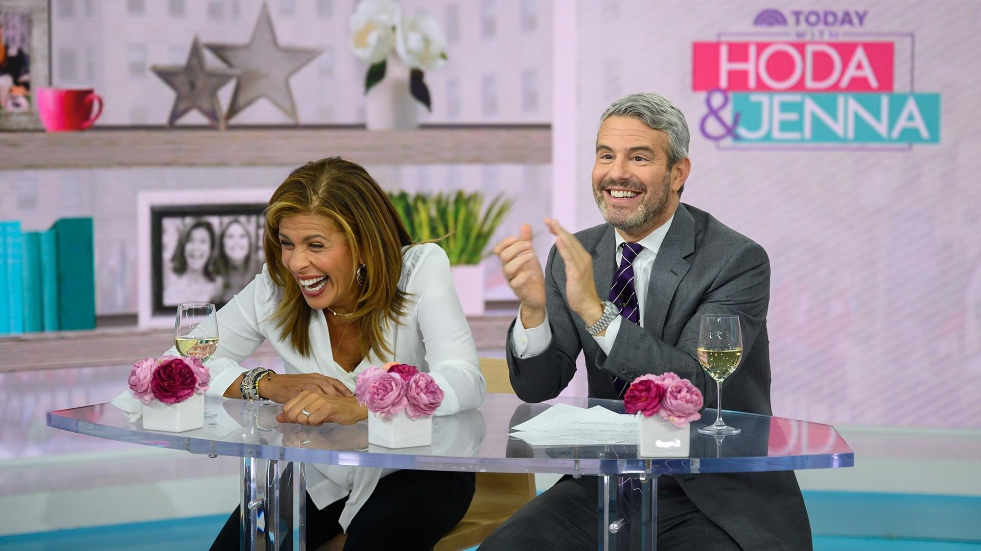 How to deal with a bathroom talker: Andy and Hoda discuss