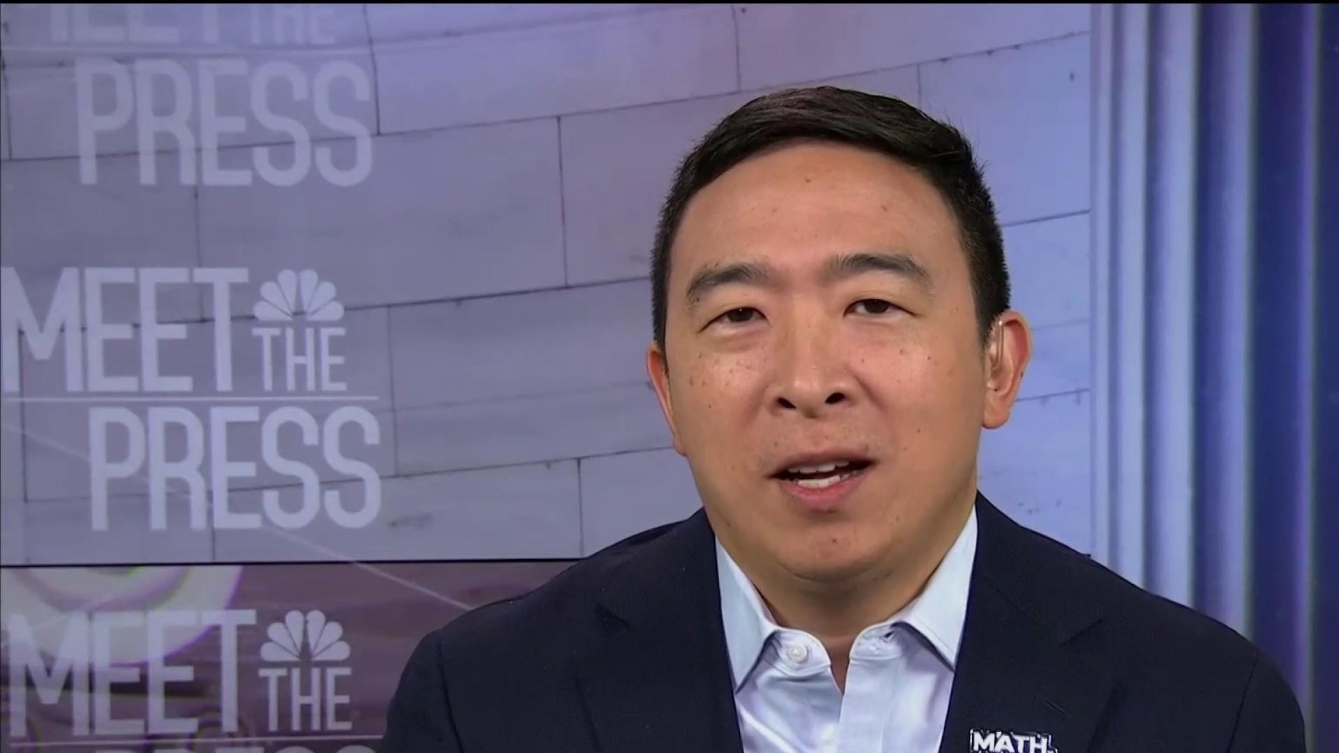Andrew Yang says 'Americans are smart enough' to know when he's joking about his race