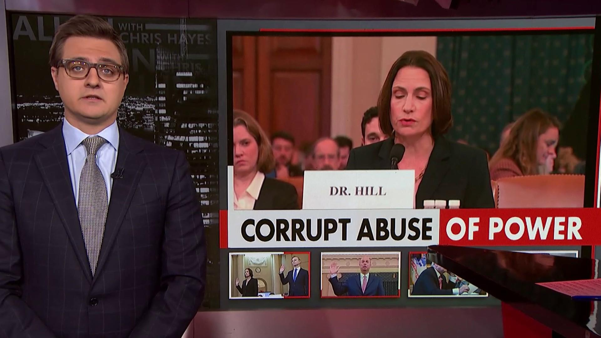 Chris Hayes on Fiona Hill's powerful testimony