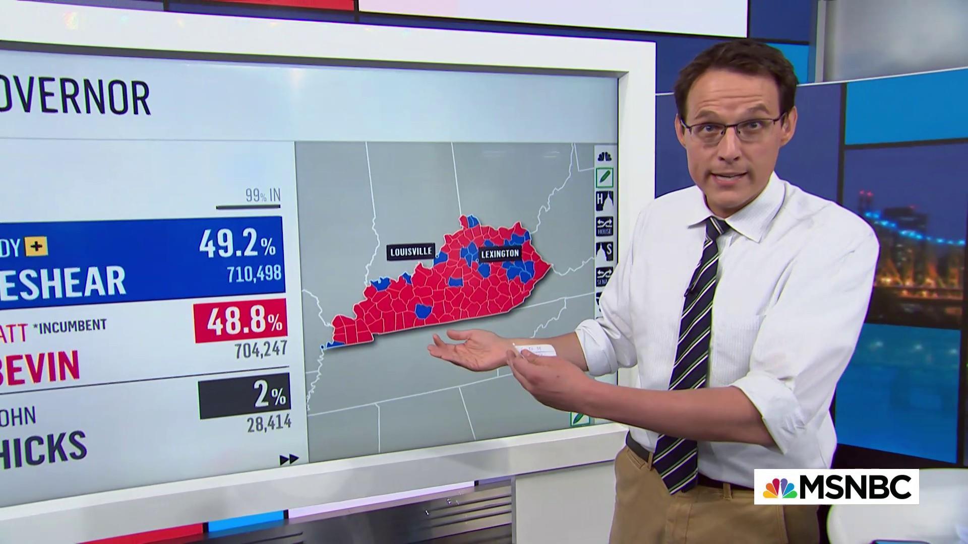 Suburban rejection of Trump boosts Kentucky Democratic victory