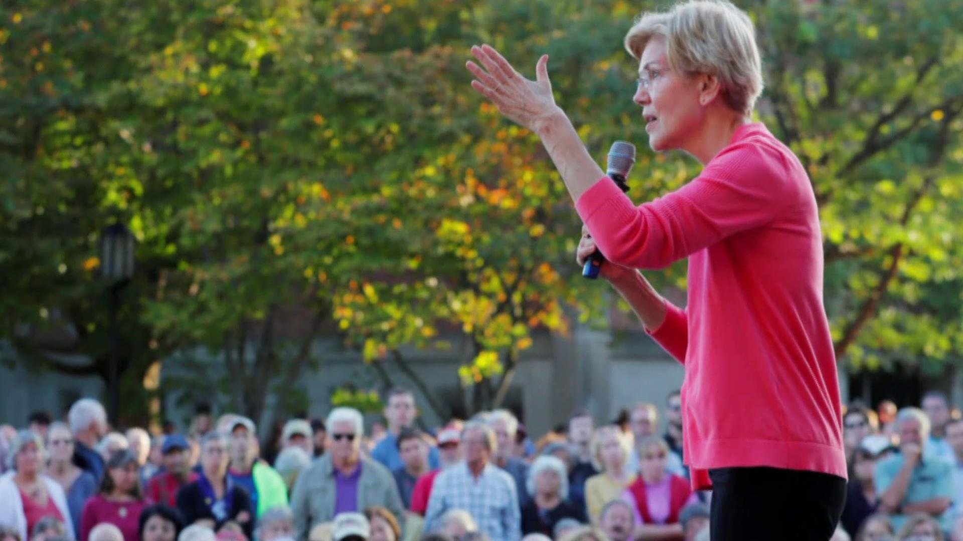 Elizabeth Warren blasts billionaires in new ad