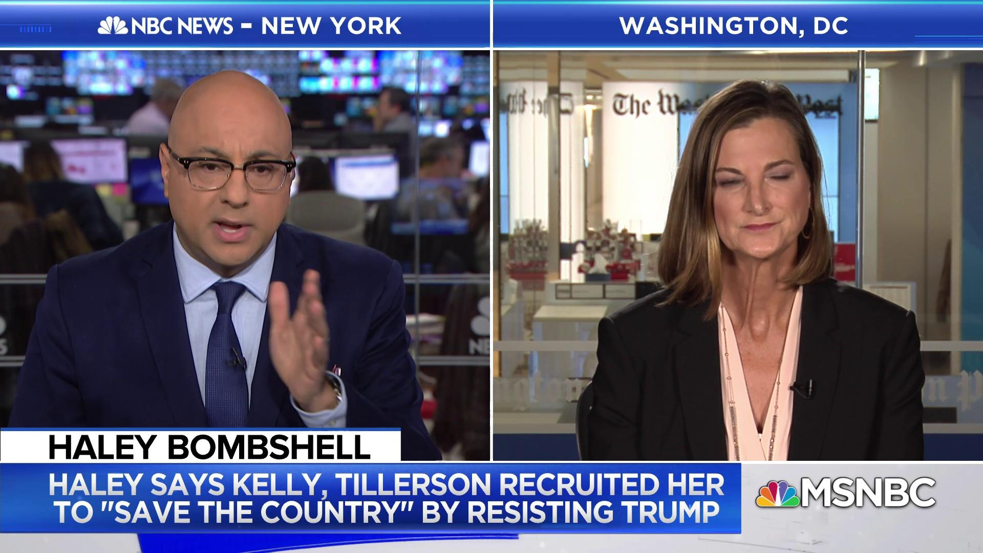 Reporter: Nikki Haley hitching herself to Trump's wagon