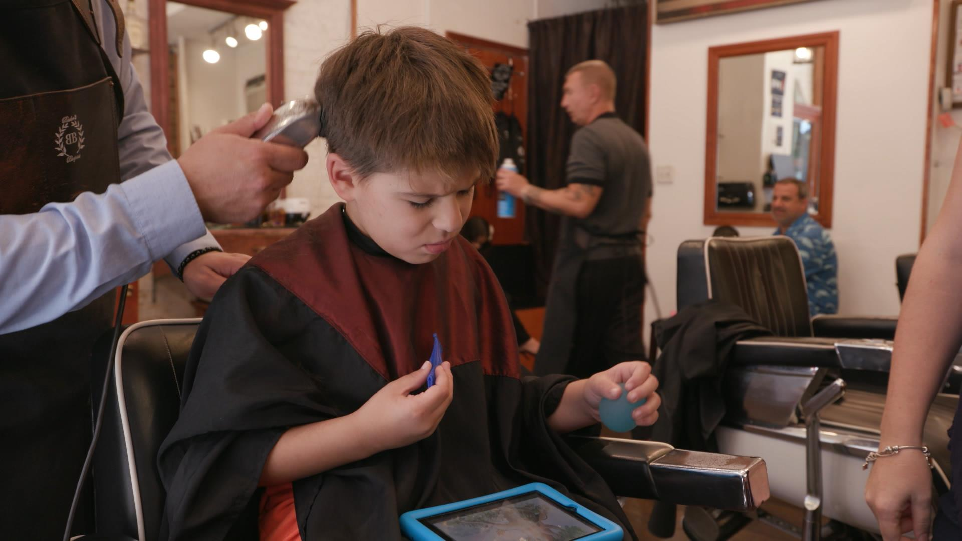Barbershop specializes in haircuts for people with autism and special needs