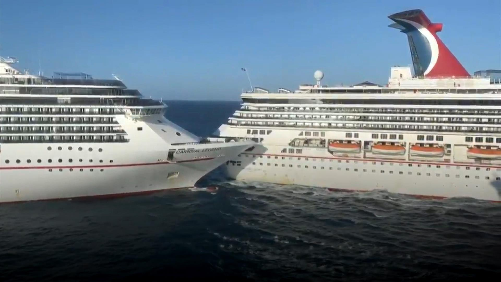 2 Carnival Cruise Ships Collide In Cozumel Mexico At Least 6 People Injured