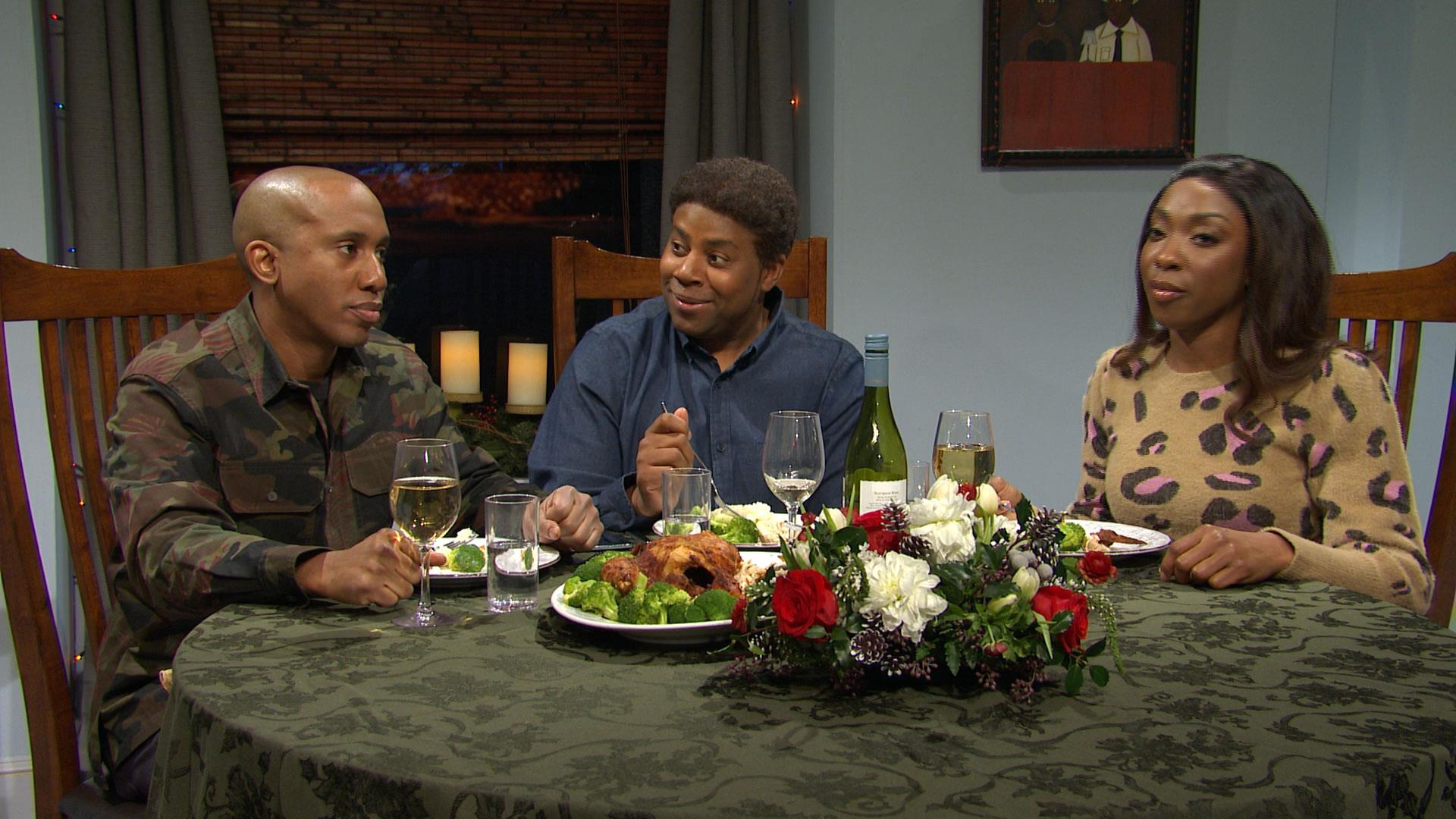 'SNL' looks at the holiday dinner table during impeachment