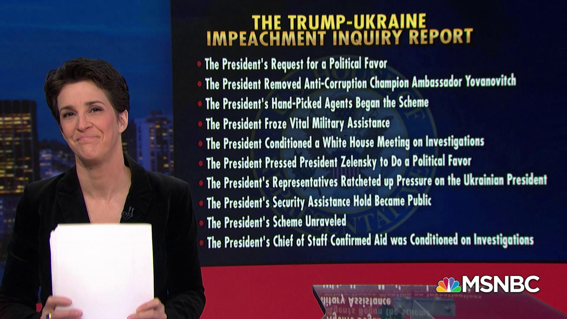 The fastest, easiest way to understand the impeachment report