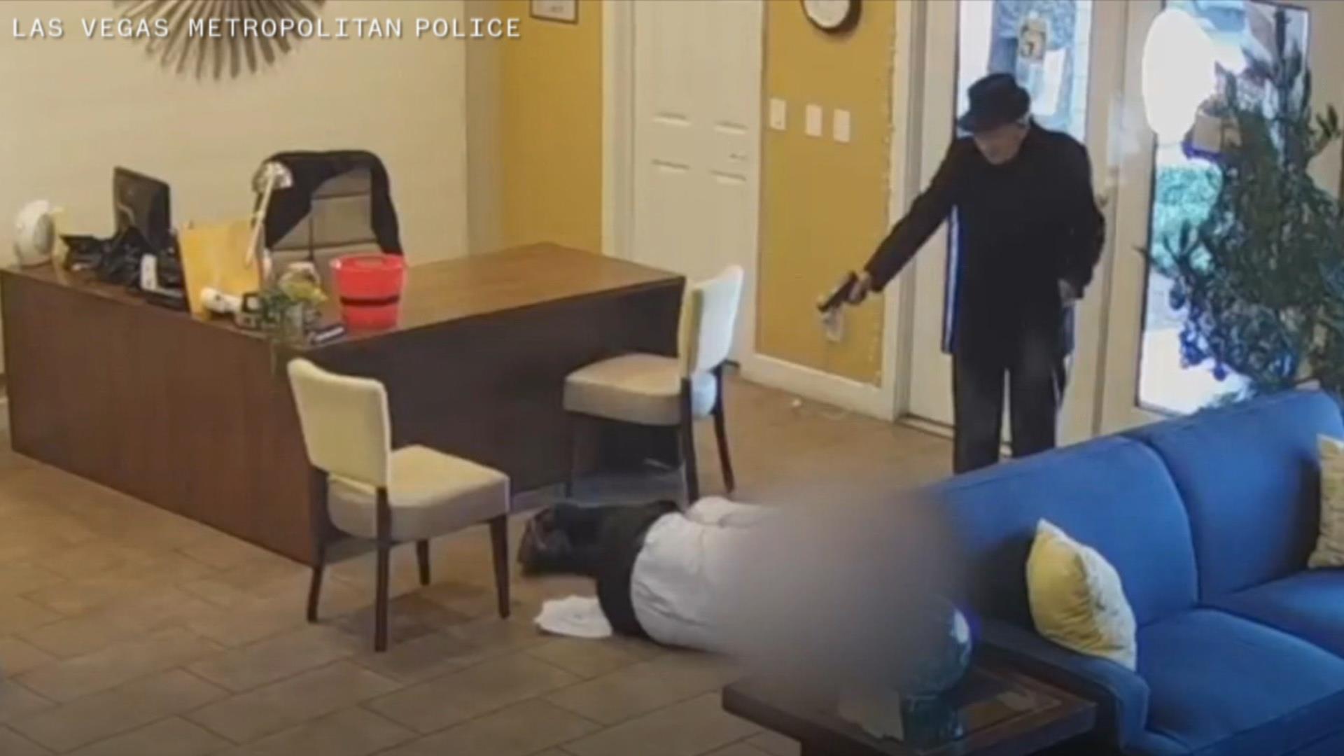 Video shows Las Vegas man, 93, open fire on apartment maintenance worker