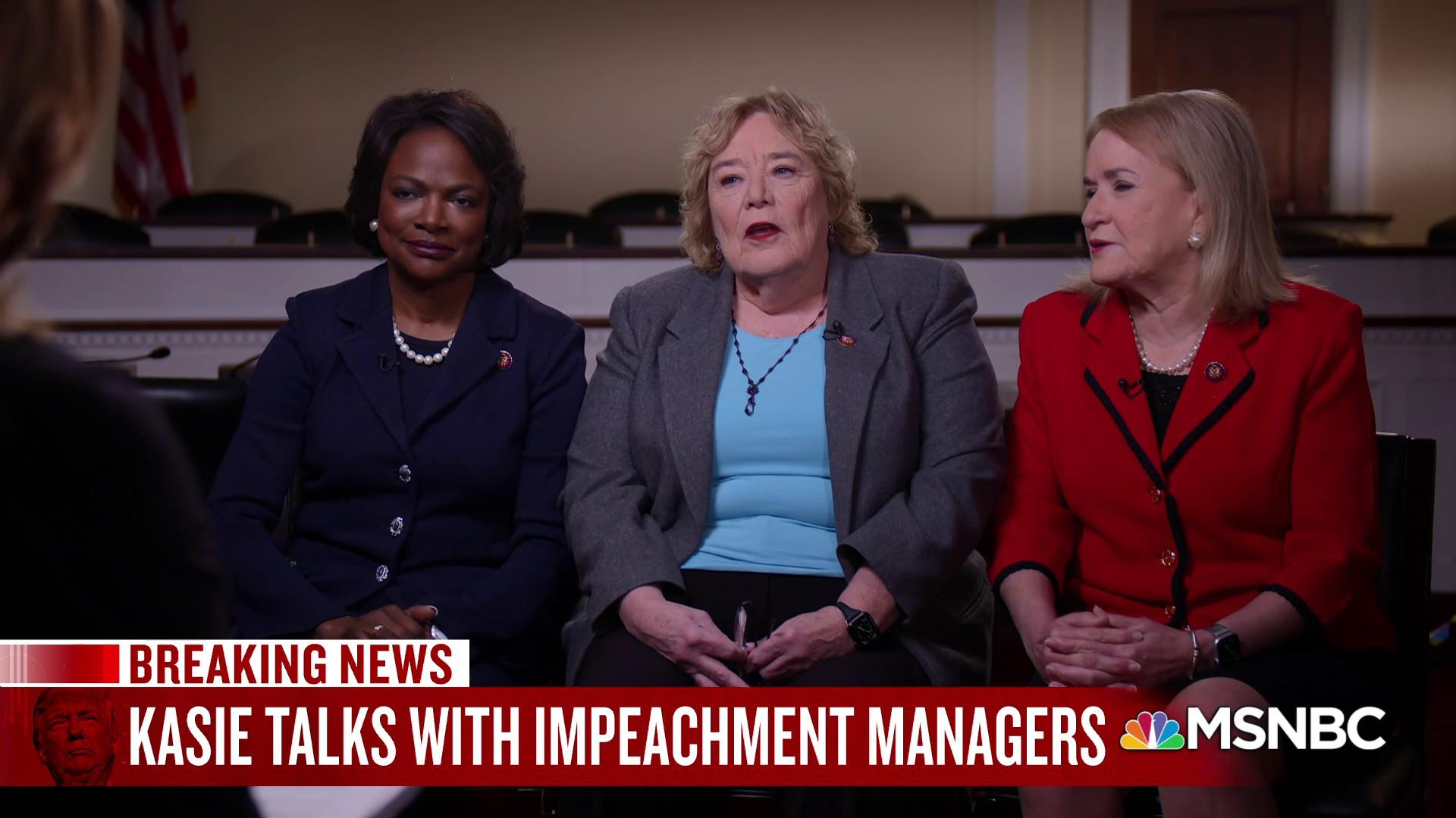 Kasie Hunt's exclusive interview with first-ever female impeachment managers