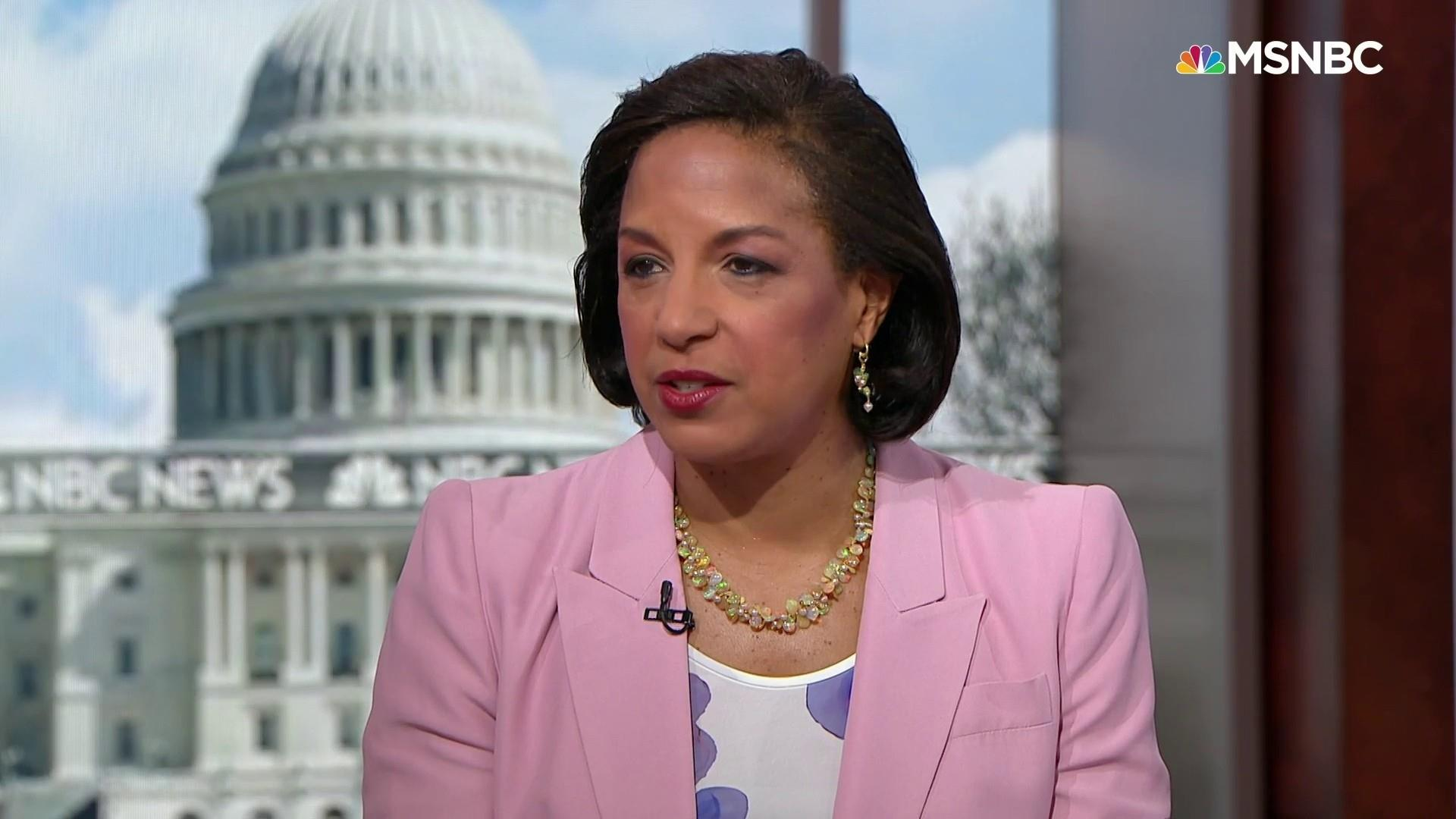 Susan Rice: Trump's 'despicable lies' about Obama show his 'extreme weakness and insecurity'