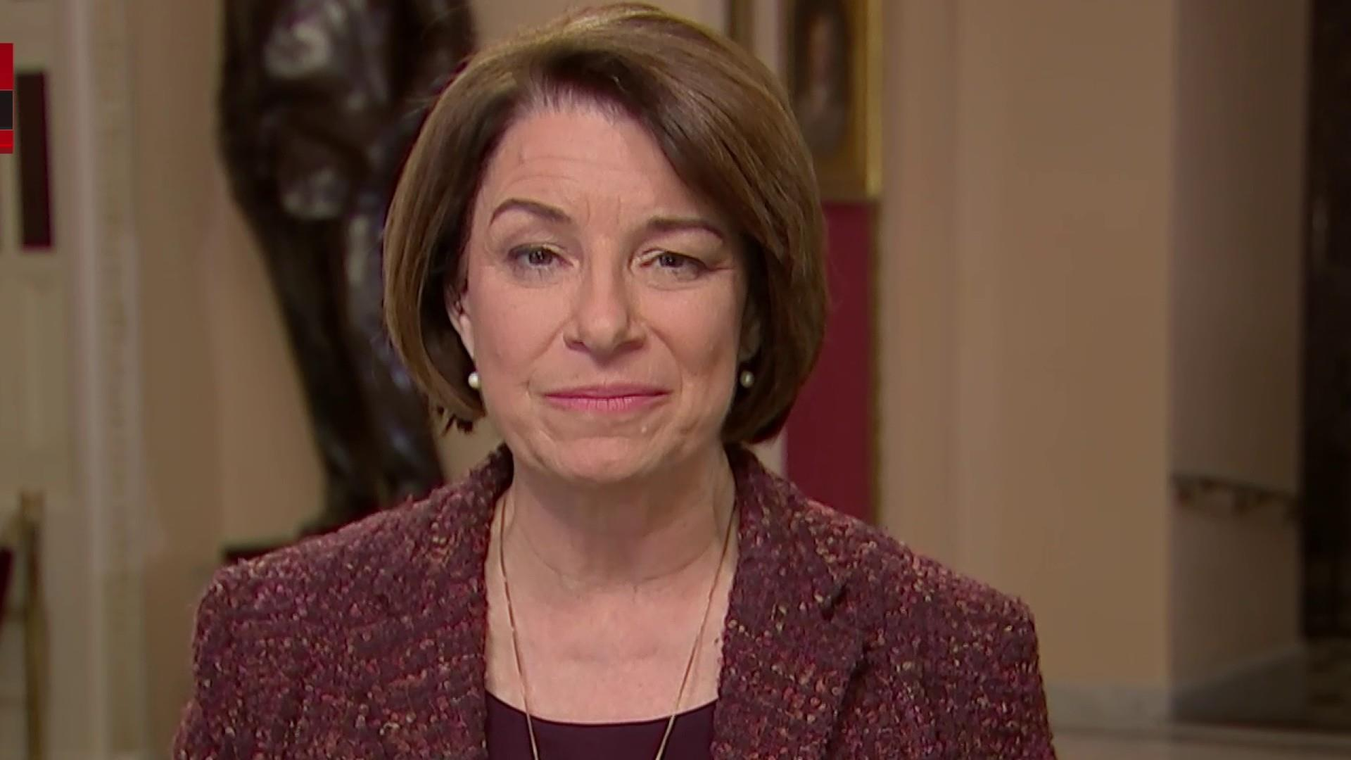 Sen. Klobuchar says Republicans should remember they serve the people, not the president