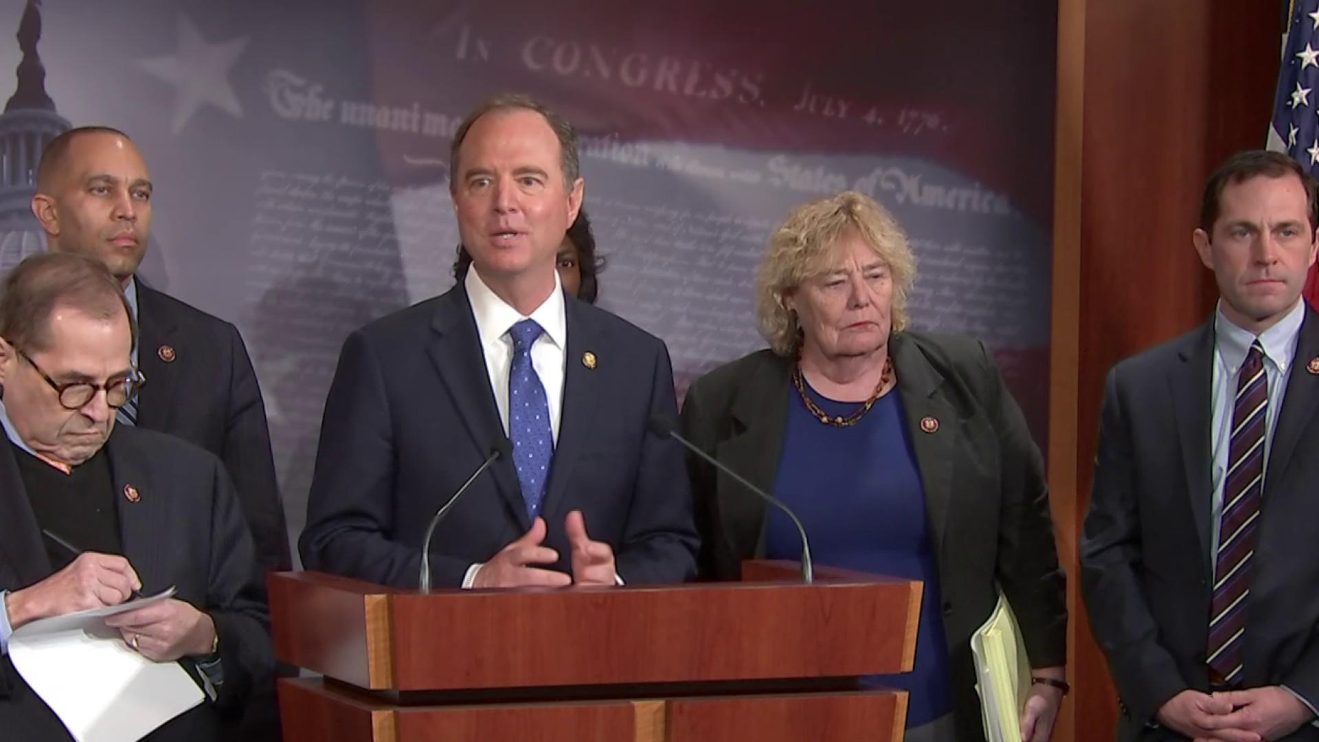 Schiff claims Trump's lawyers 'do not contest' the facts in the impeachment trial
