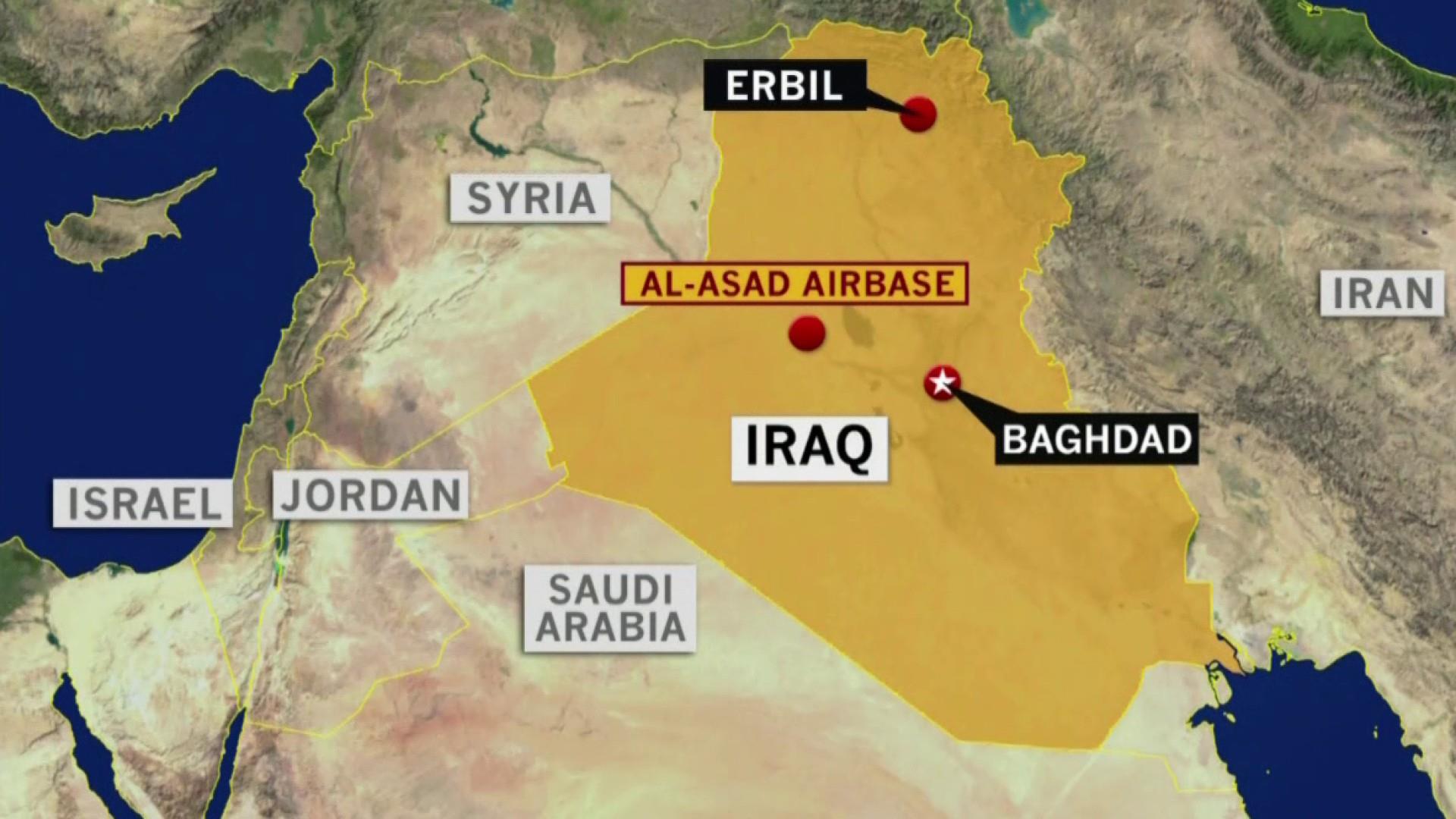 Iran retaliates for Gen. Soleimani's killing by firing missiles at U.S. forces in Iraq