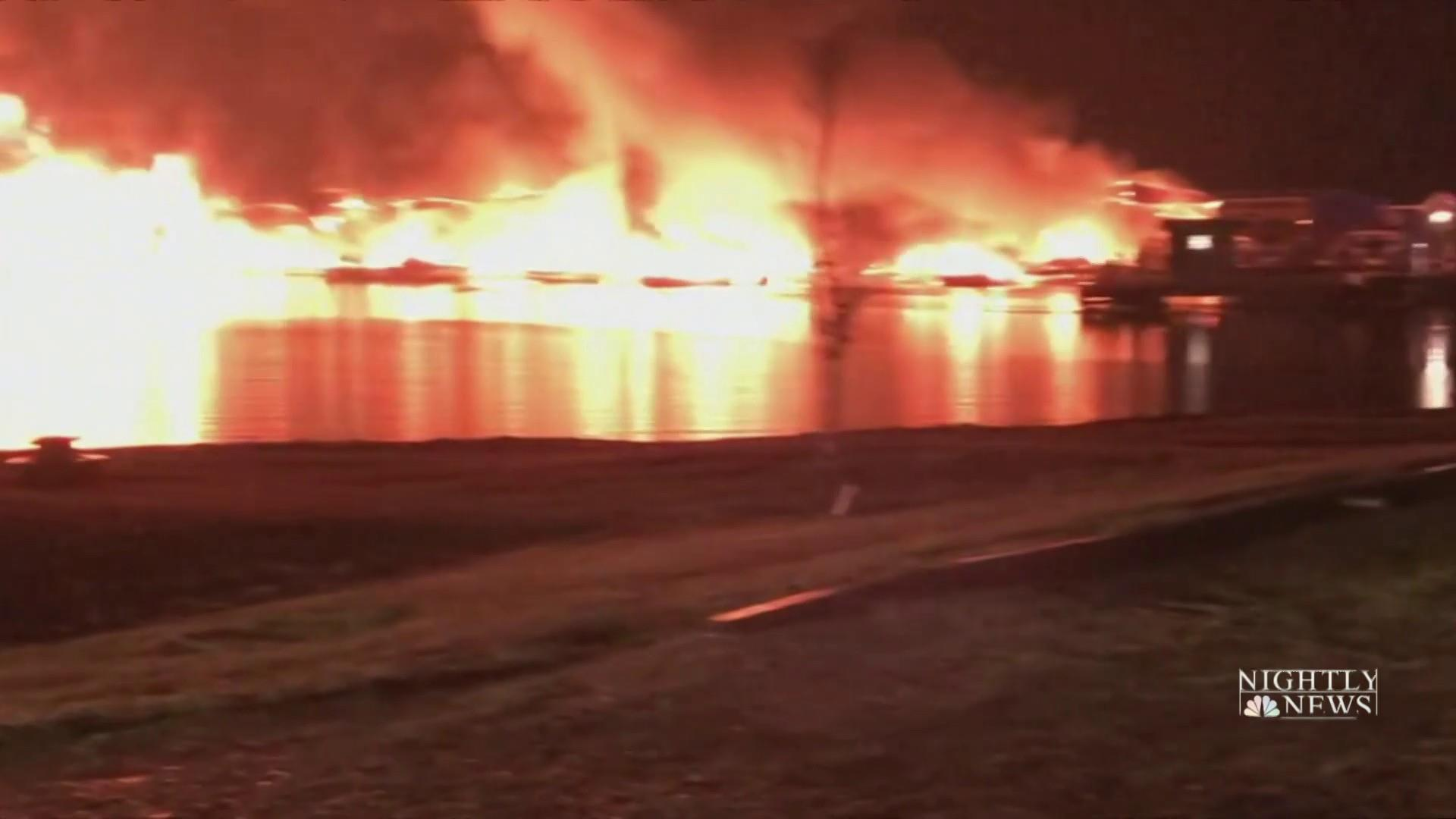 At least eight dead in Alabama marina fire that destroyed 35 boats