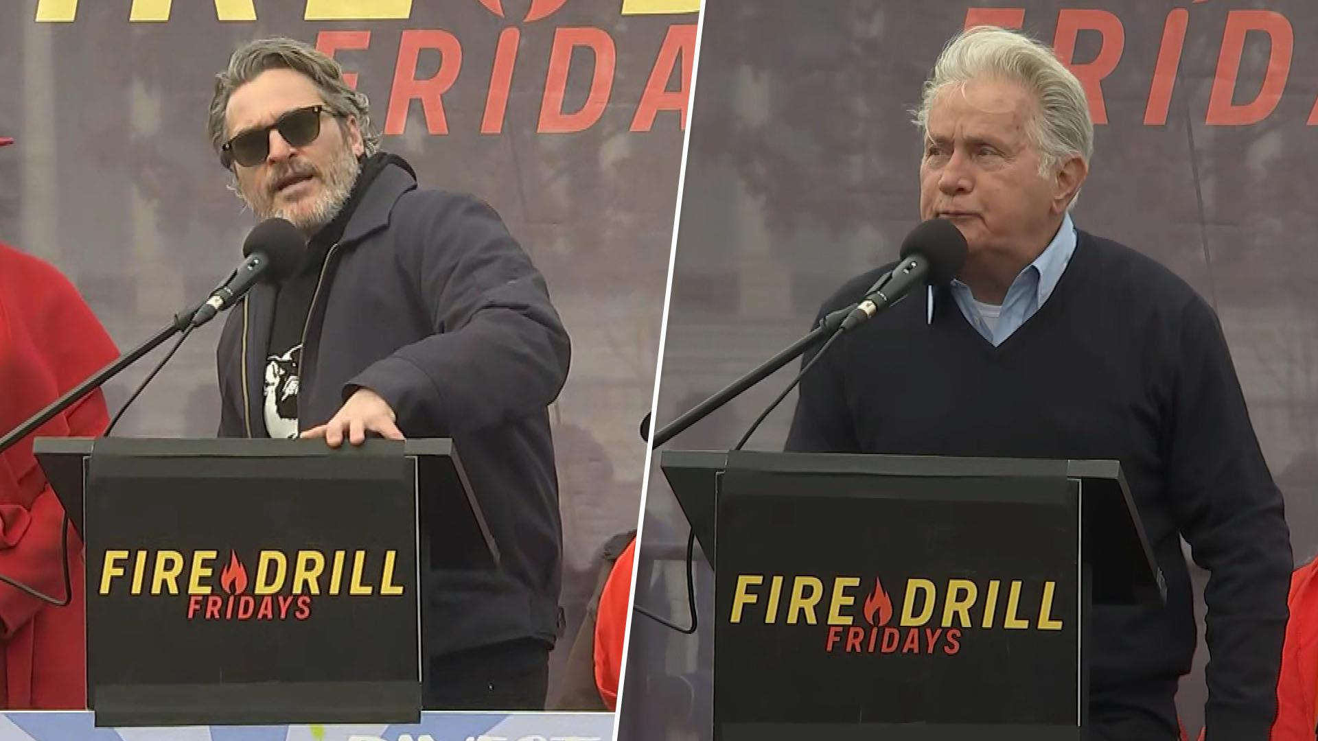 Joaquin Phoenix and Martin Sheen arrested in star-studded climate change protest on Capitol Hill