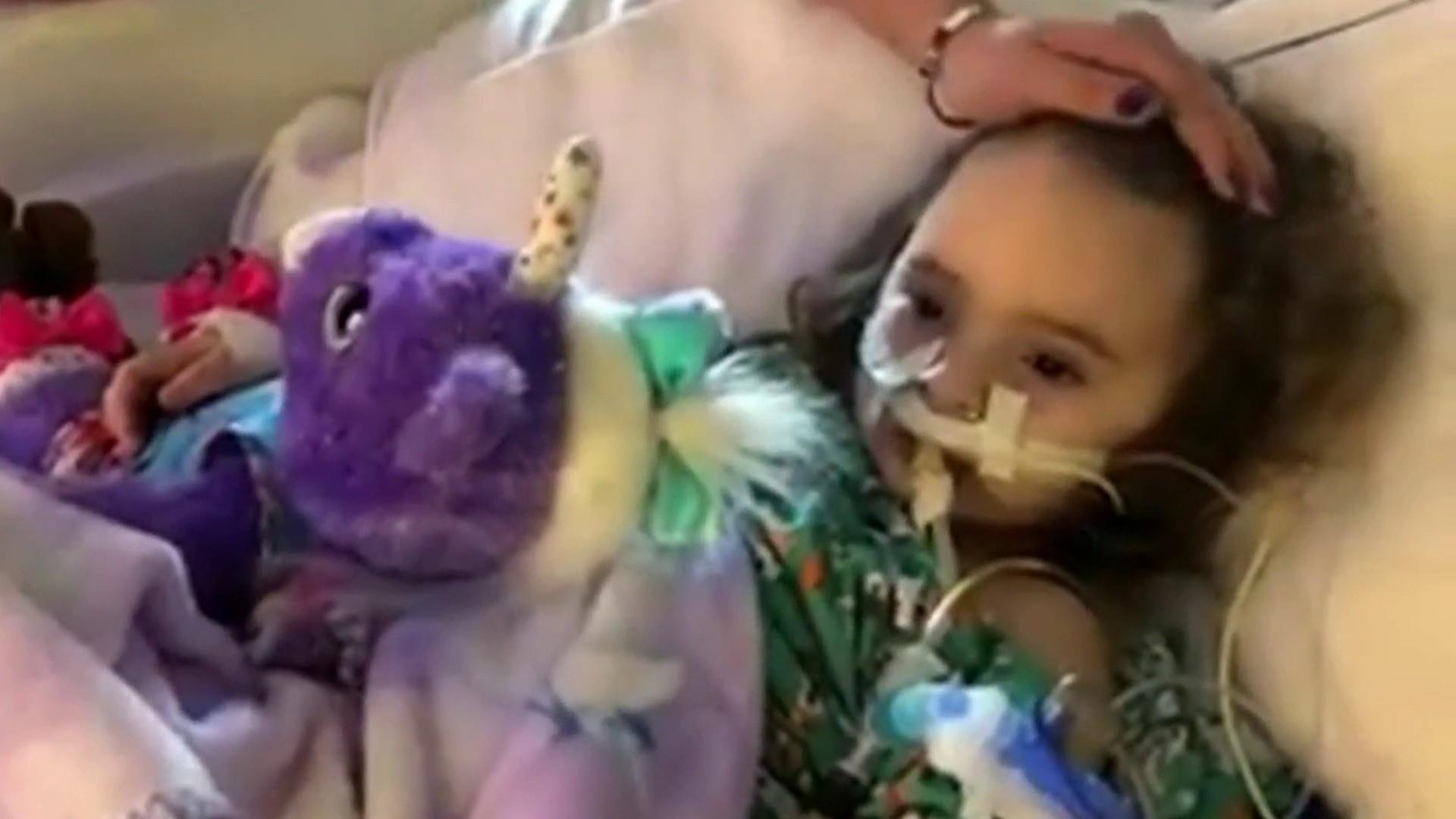 Flu leaves 4-year-old Iowa girl blind