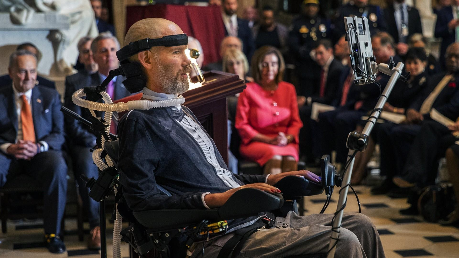 Ex-NFL player Steve Gleason given the Congressional Gold Medal for ALS work