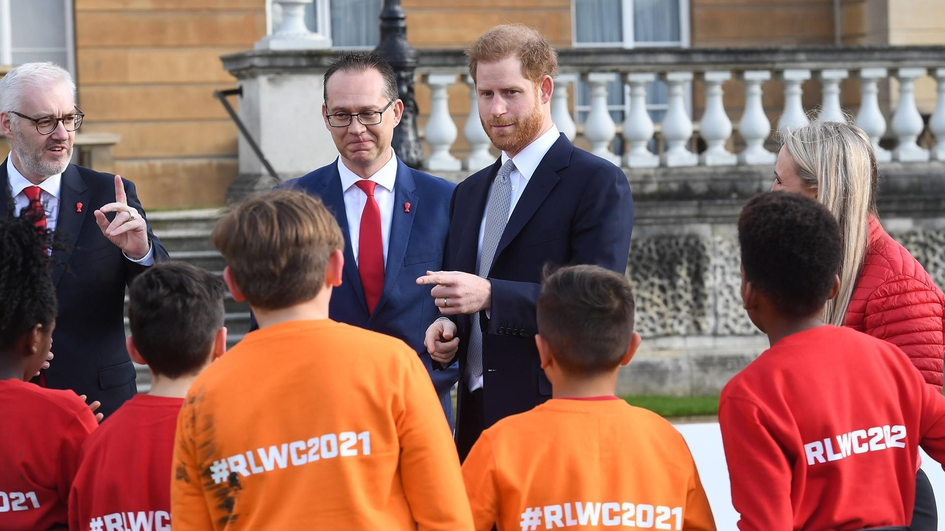 Prince Harry makes first official appearance since royal crisis talks