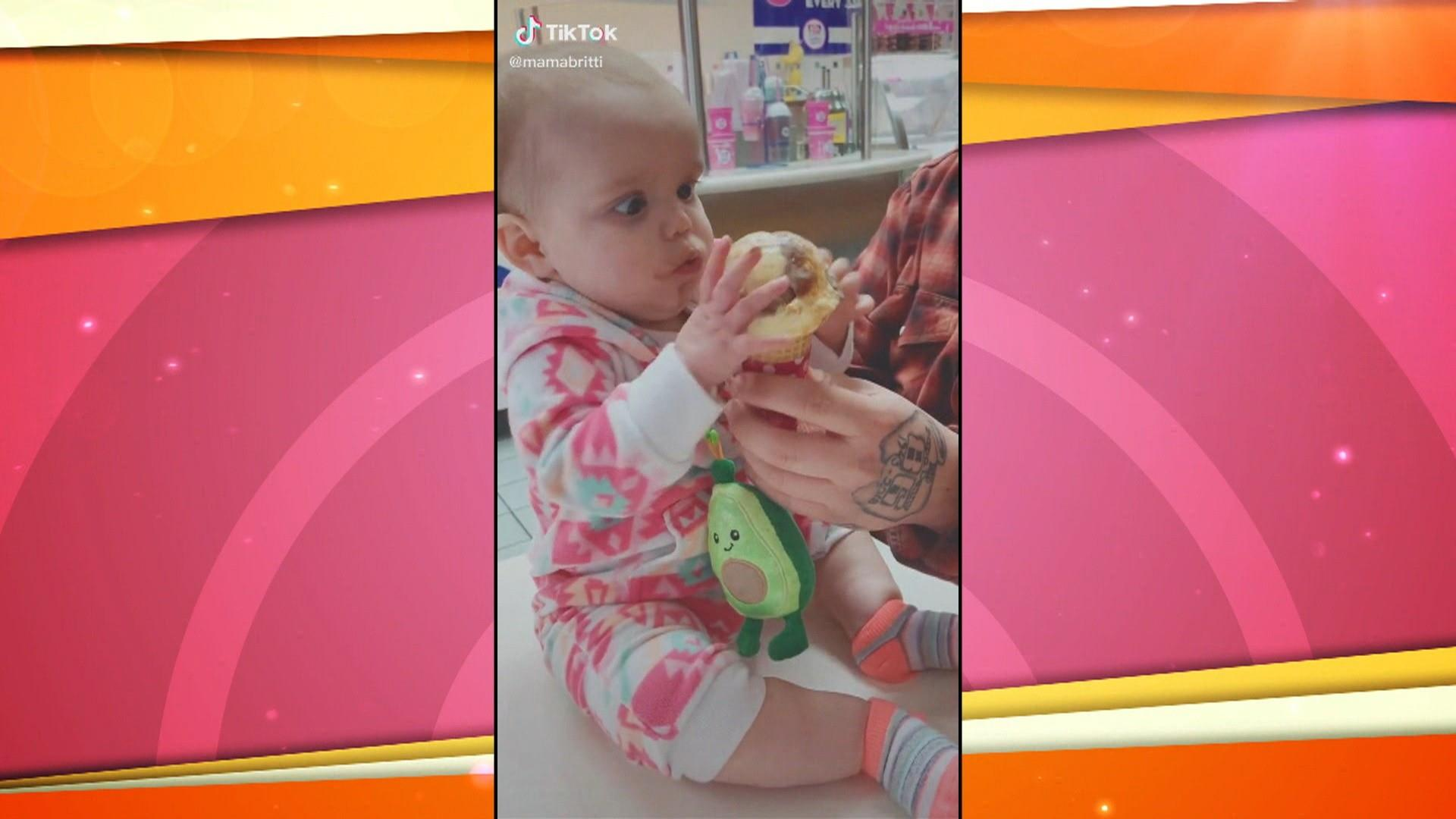 Watch how this 9-month-old girl reacts to her first taste of ice cream
