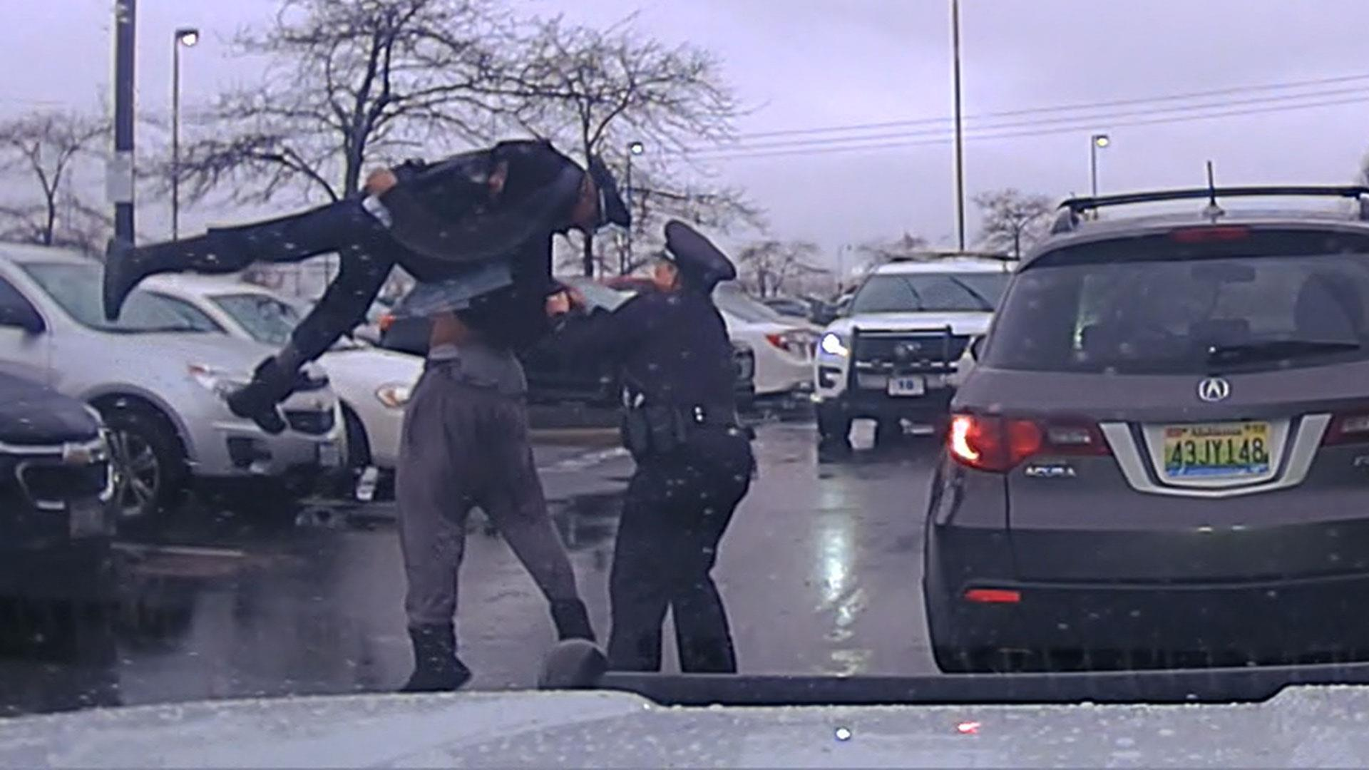 College football player seen body-slamming Ohio officer in dashcam video