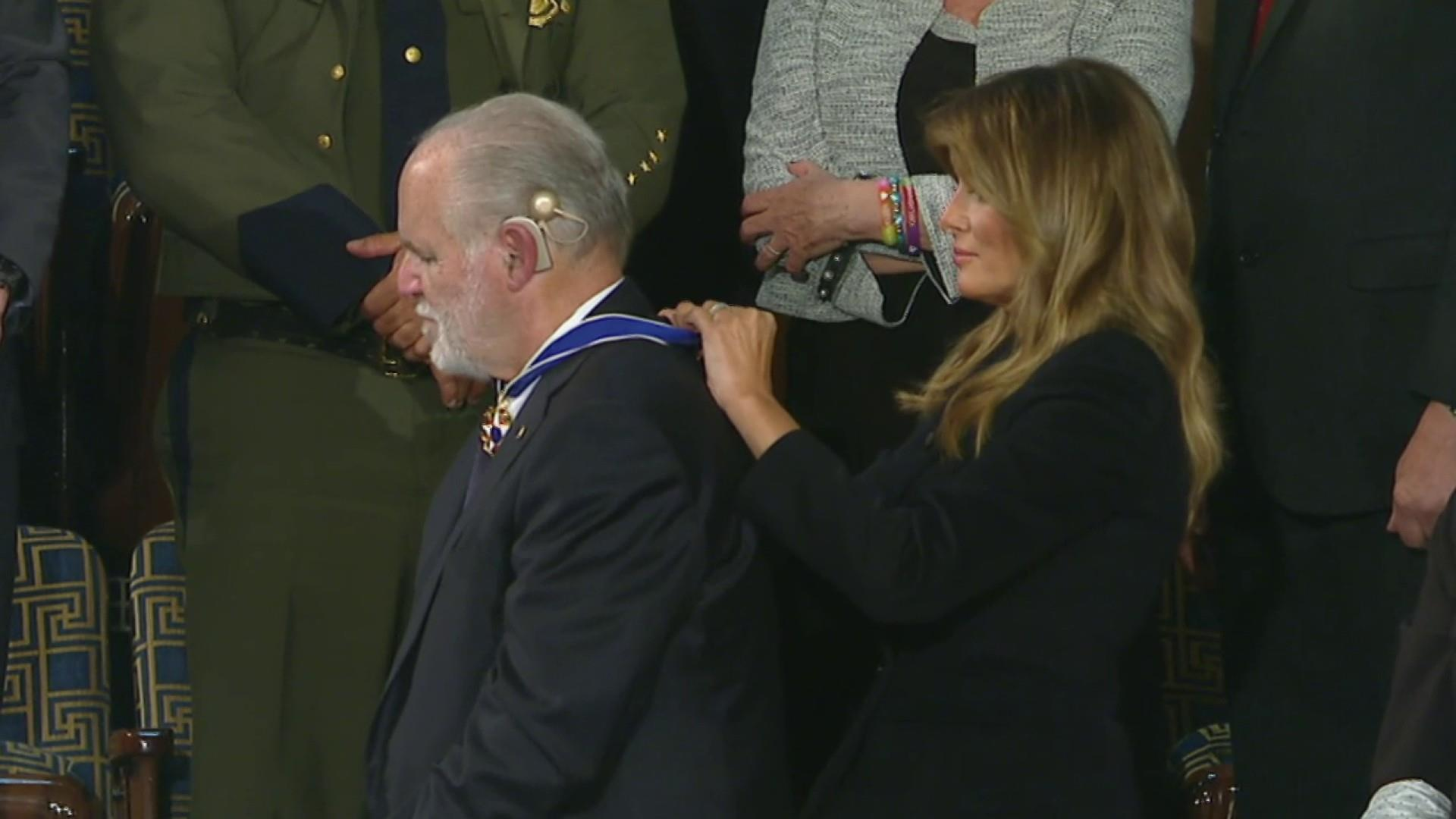 'Nauseating': Trump blasted for giving Rush Limbaugh the Medal of Freedom