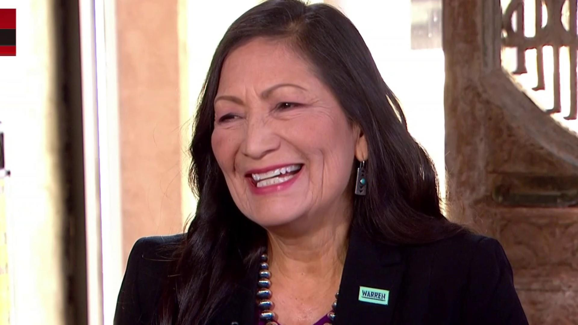 Warren, how she might address Bloomberg discussed by Rep. Haaland