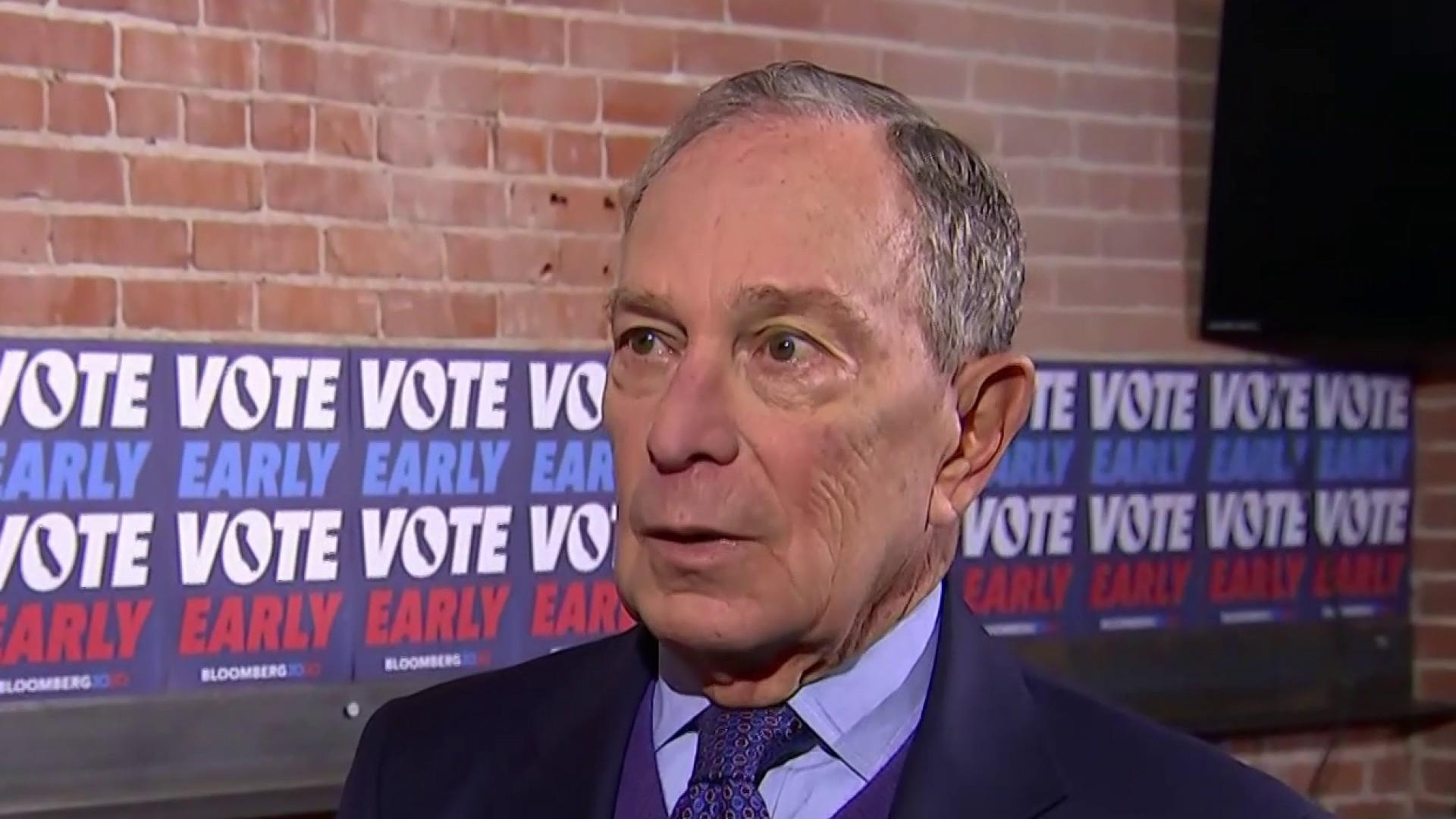 Bloomberg storms to the center of the 2020 presidential fray
