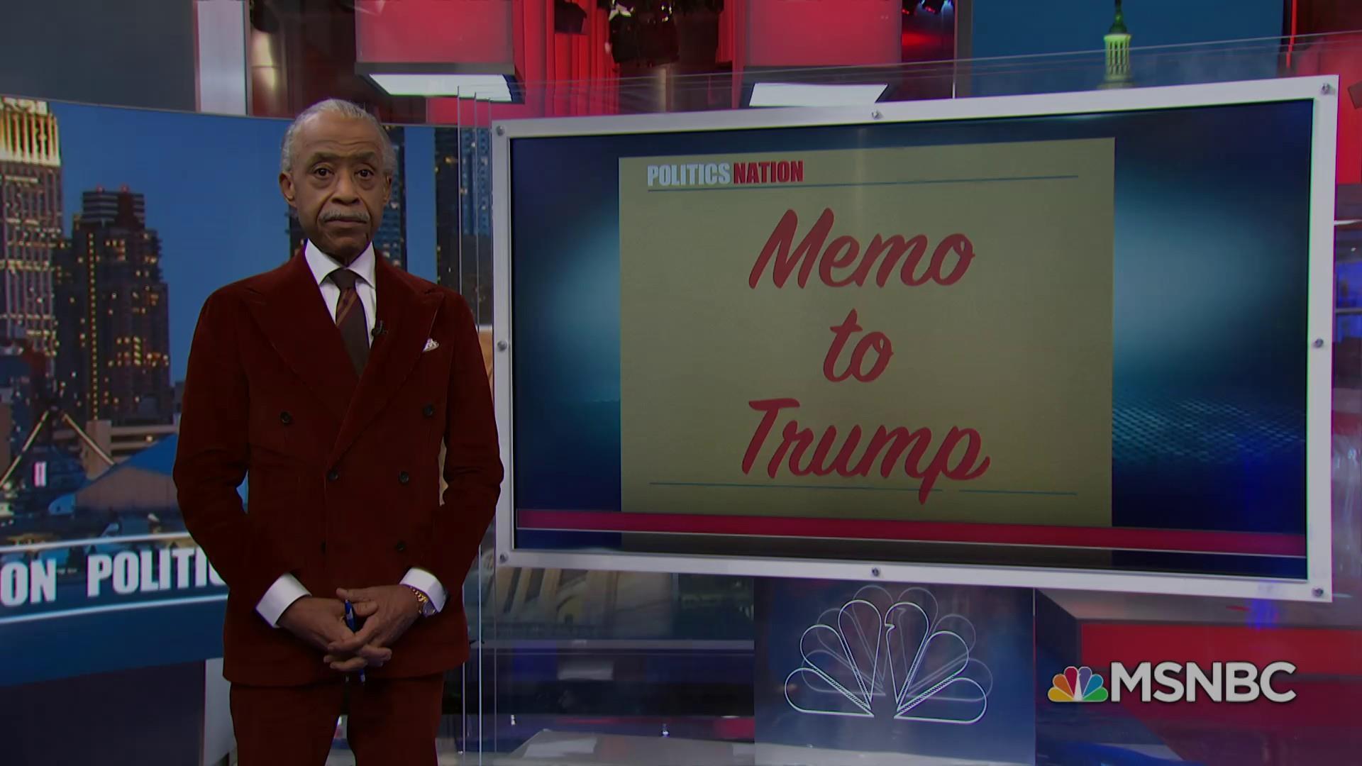 "Memo to Trump: ""You failed to make America great again"""