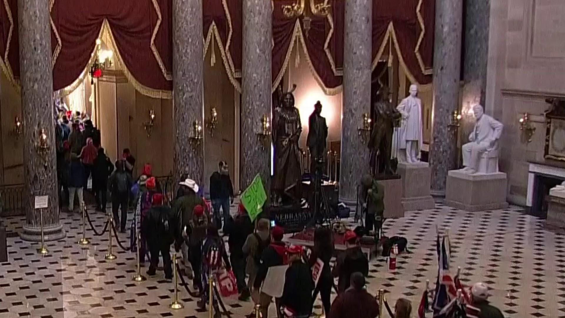 Protesters enter Capitol building in unprecedented security breach