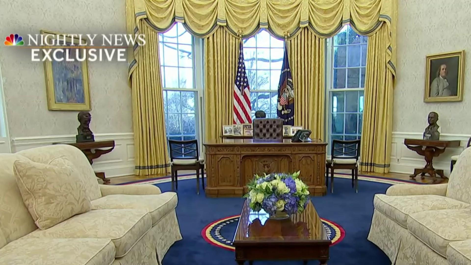 Inside President Biden S Revamped Oval Office