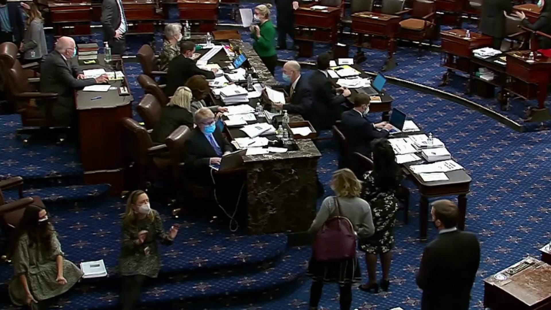 Senate passes $1.9 trillion Covid relief bill without a GOP service thumbnail