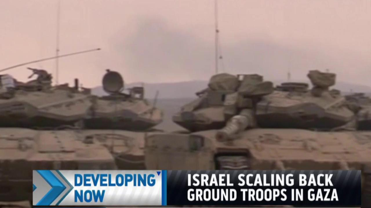 Israel scaling back ground troops in Gaza