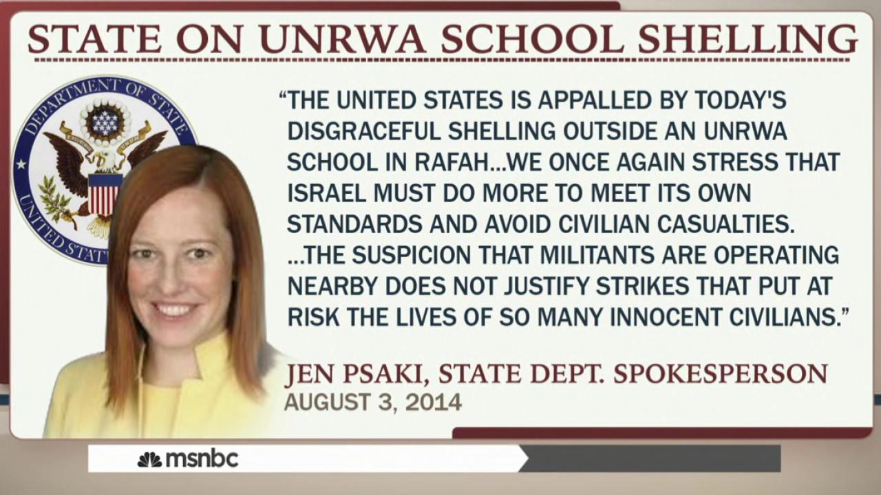 US condemns Israeli attack near UN school
