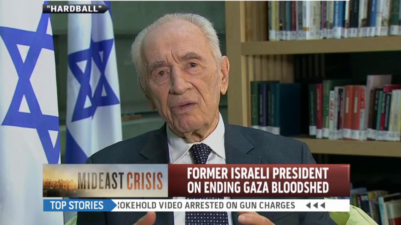 Shimon Peres: 'We don't want to kill anybody'