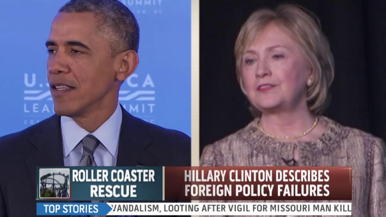 Clinton describes foreign policy failures