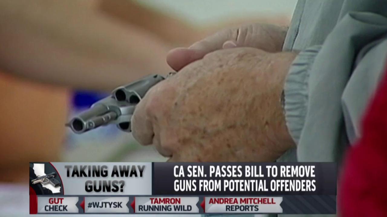 Taking away guns?