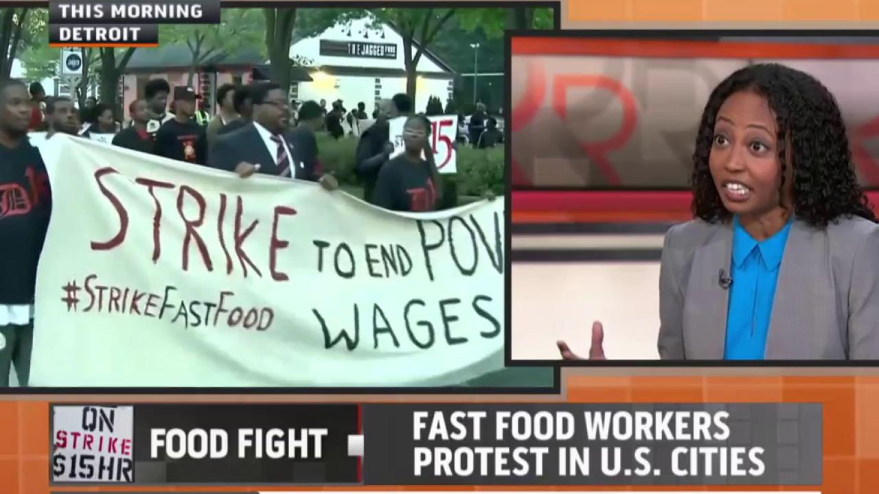 The fast food fight for a minimum wage