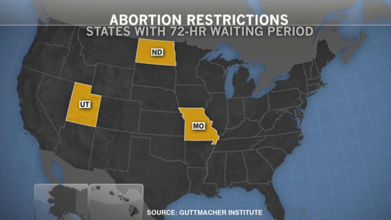 MO: New 72-hour waiting period for abortions