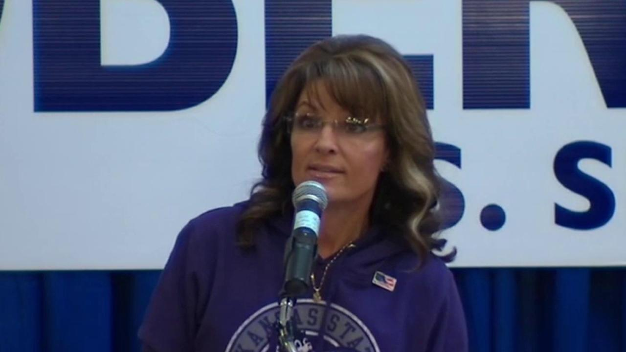 Palin to voters: Orman 'trying to snooker ya'