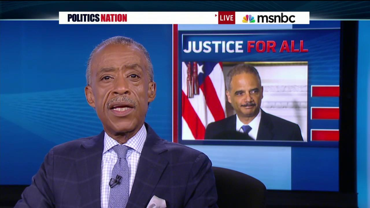 Sharpton's final thoughts on Holder's...