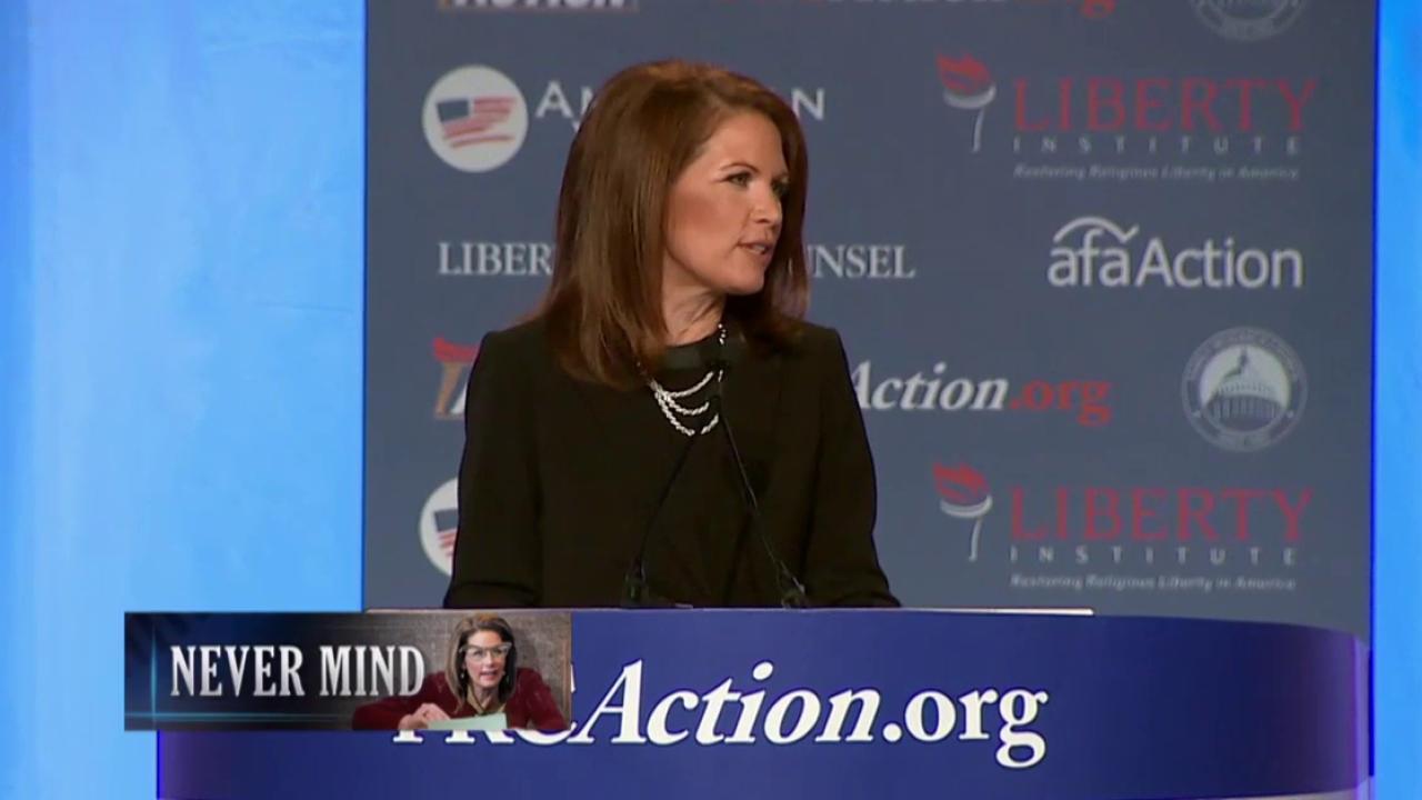 Michele Bachmann re-writes history