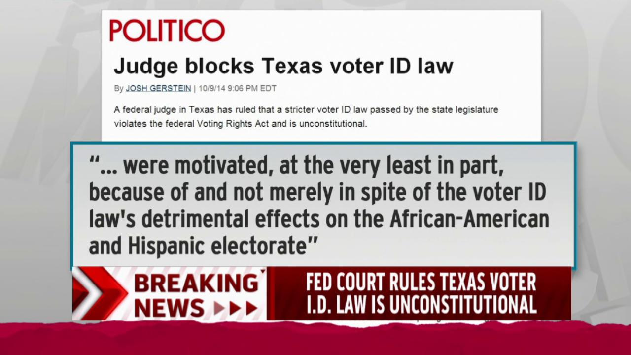 Courts stop voter ID laws in Texas, Wisconsin
