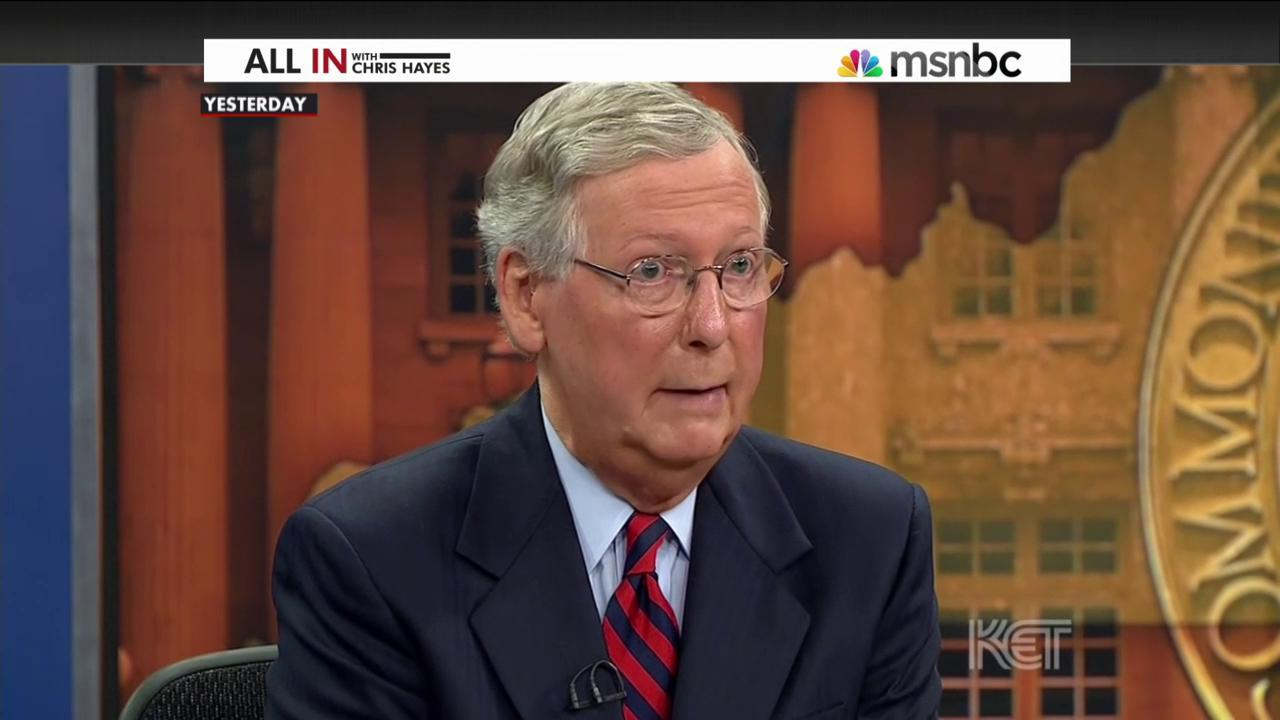 Mitch McConnell's Obamacare 'word salad'