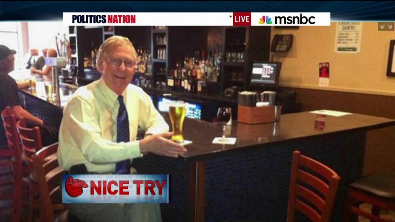 Mitch McConnell pays for fans?