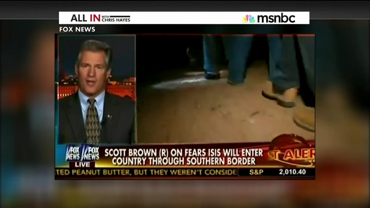 Scott Brown has a border obsession