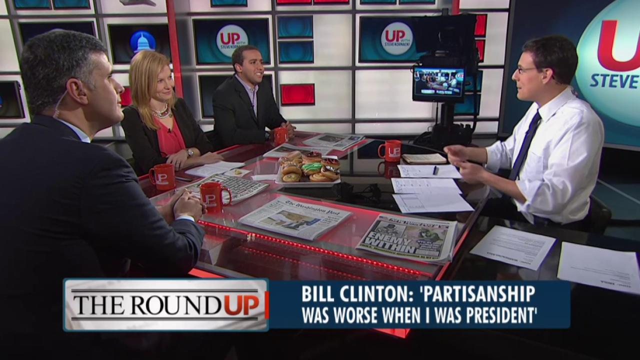 Clinton: 'partisanship was worse in my time'