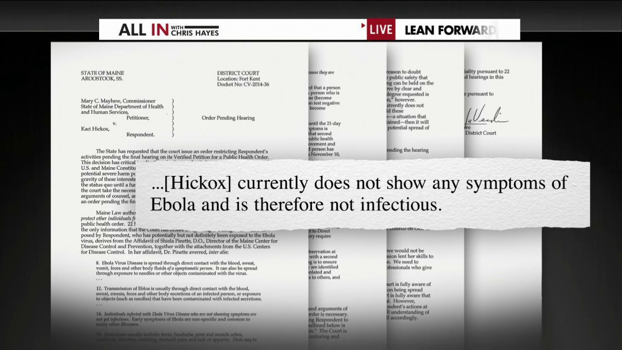 Maine judge: No quarantine for Kaci Hickox