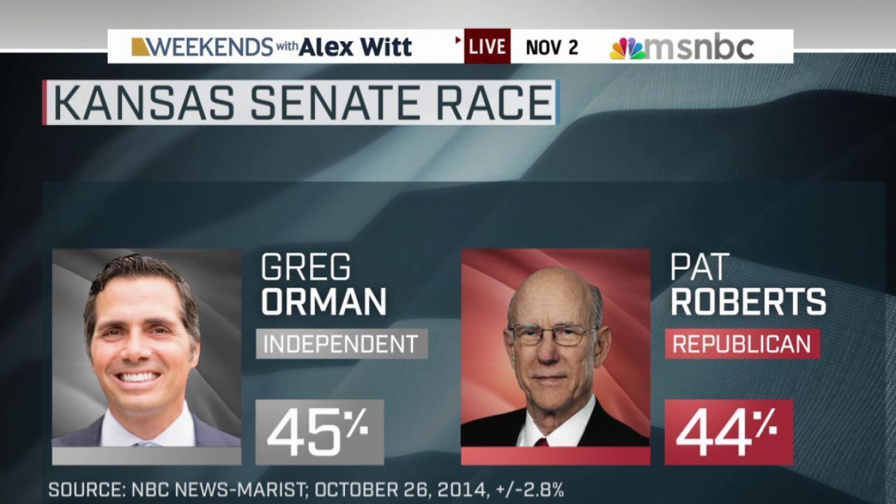 KS Senate race in dead heat in final days