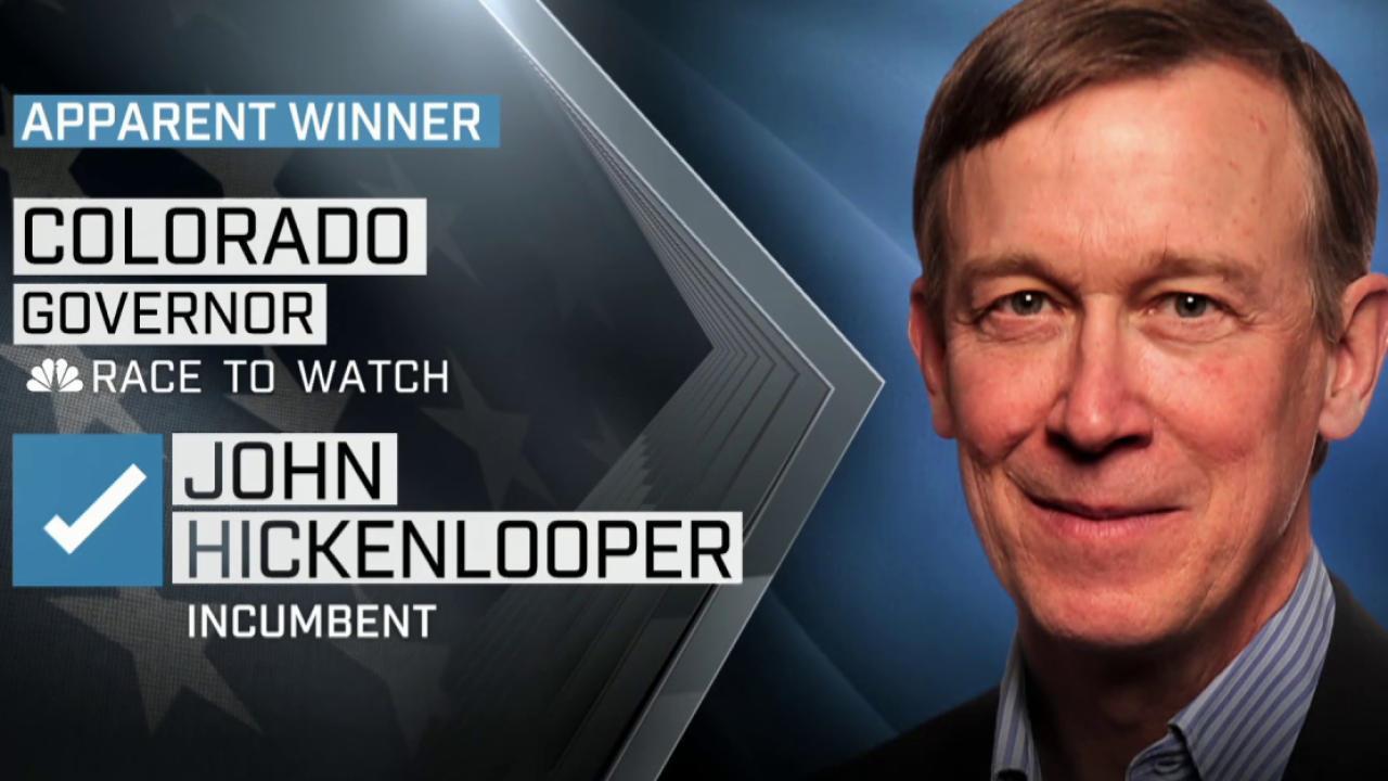 NBC News: Colorado governor re-elected