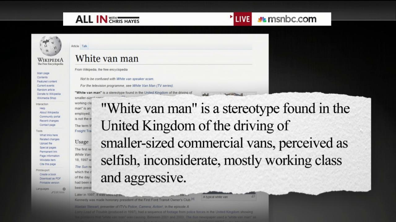 What is a 'white van man'?